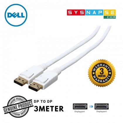 Display port (Male) to Display port (Male) – 3m White DP to DP High Quality