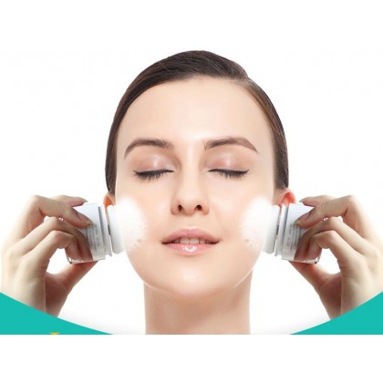 TOUCHBeauty Electric Chargeable Facial Cleanser Ultrasound Blackhead Remover Pores Cleaning Puff