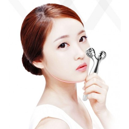 TOUCHBeauty Manual Micro-current Face-lifting V Face Slimming Double Chin Face Neck Roller Type Massager