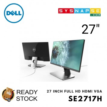 (Open Box) Dell SE2717H 27-inch IPS FreeSync Gaming Monitor LED Non Flicker Elegance