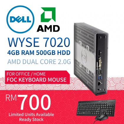 Dell Wyse 7000 7020 Thin Client AMD G-Series Quad-core 4 Core 2 GHz 4GB RAM 500GB HDD
