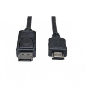 Link Depot DP-6-HDMI 6 ft. Black DisplayPort to HDMI Cable Male to Male