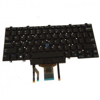 Dell Latitude 5490 7490 Backlit Laptop Keyboard Dual Point 6NK3R 06NK3R